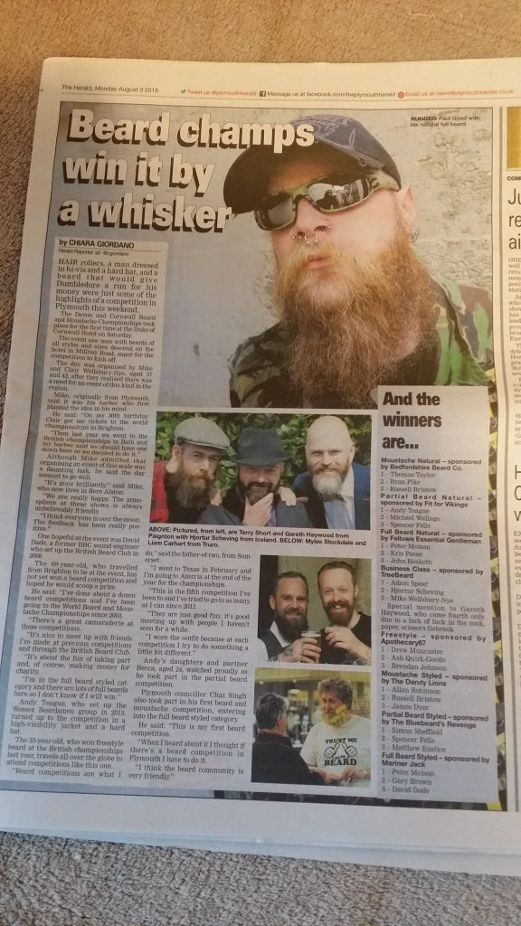 2015 post-event Plymouth Herald article
